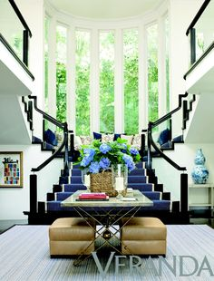 Make an Entrance. Cobalt and black and white. Interior Designer: Kirsten Kelli.
