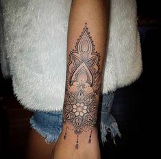 mandala tattoo forearm for women / mandala tattoo fore… – foot tattoos for women Forearm Mandala Tattoo, Forearm Sleeve Tattoos, Cuff Tattoo Wrist, Henna Arm Tattoo, Mandala Tattoo Sleeve, Lower Arm Tattoos, Henna Mandala, Poke Tattoo, Flower Mandala