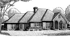 French Country House Plan with 2670 Square Feet and 4 Bedrooms from Dream Home Source | House Plan Code DHSW69922