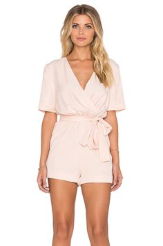 Finders Keepers The Rewind Playsuit in Shell - Revolve