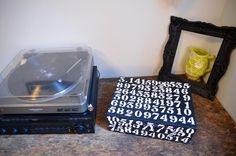 Shoebox Crafts : DIY Stenciled Number Box