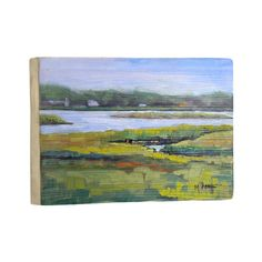 Weathered wood wall art with a landscape motif.    Product: Wall artConstruction Material: Wood Features:...