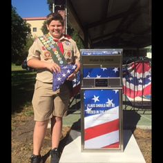 This Eagle Scout worked hard to get this Flag Drop in the community.