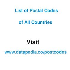 Find out List of Postal Codes of All Countries