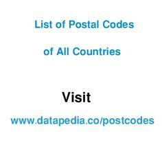 43 Best Postcodes images in 2016 | Postal code, Zip code