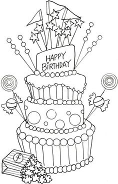 Happy Birthday Party Cake Coloring Page Best Picture For happy birthday coloring pages boys For Your Taste You are l Happy Birthday Printable, Happy Birthday Best Friend, Happy Birthday Funny, Happy Birthday Parties, Happy Birthday Cakes, Happy Birthday Clip Art, Mom Coloring Pages, Printable Coloring Pages, Free Coloring