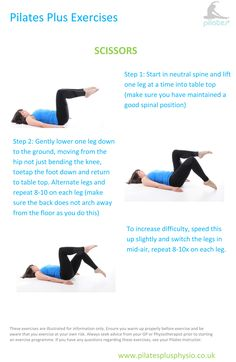 Pilates at home - Scissors for lumbo-pelvic alignment and abdominal strength