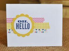 Oh Hello Gingham Garden Designer Washi Tape Card
