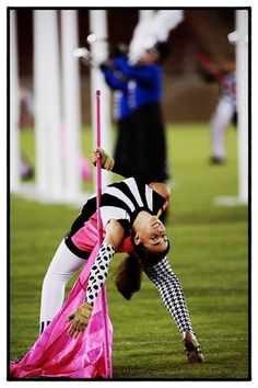 Colorguard maybe do more graceful but could be cool