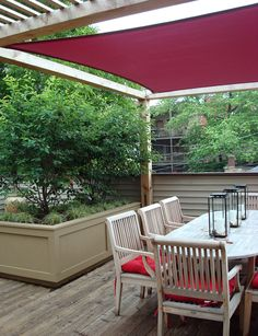 Roof Deck | Planters | Urban | Garden | Landscape | Design | Pergola | Shade Sail