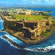 """Puerto Rico: Christopher Columbus named the island San Juan Bautista, in honor of Saint John the Baptist. Eventually, traders and other maritime visitors came to refer to the entire island as """"Puerto Rico"""", and """"San Juan"""" became the name of the main trading/shipping port."""