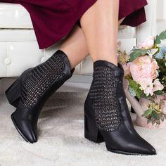 Cizme Rajina negre cu toc -rl Booty, Casual, Shoes, Fashion, Moda, Swag, Zapatos, Shoes Outlet, Fashion Styles