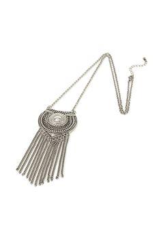 Fringe Medallion Long Necklace | FOREVER21 - 1000117826