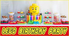 Lego Birthday Party Ideas from The Organised Housewife.  Creating 2 parites in 1 day for twins, Rainbow party to Lego party