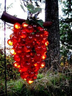 Vintage Lucite Grape Cluster Swag Light  1960s Grape Cluster