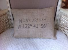 Fun personalized pillow cover by HillsideHouse