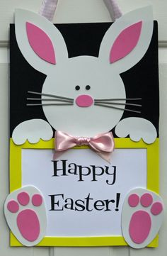 Easter Bunny Wall/Door Sign von HatterandHareEvents auf Etsy