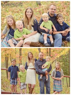Fall family photo photos outfit outfits ideas coordinate lime green with navy blue with turquoise © Purrington Photography www.purringtonphotography.com