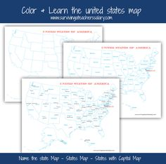 Free U S A Map Printables Blank City And States