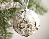 Natural Christmas ornaments Frosted Christmas ornaments Christmas tree balls Natural Christmas decoration set of 3