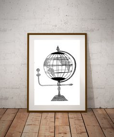 """Reproduction Print of an original hand drawn calligraphy art """"All Around The World"""" using a calligraphy dip pen and ink. It's perfect for jazzing up your living/office space.       Reproduction Print of an original watercolor painting.    NOTE: Poster sizes are available, will take longer to process. Convo me for approximate processing time.  ~Frame is for Display purposes only        Thank you so much for your interest!      Personal use only!  All rights reserved, not for commercial using…"""