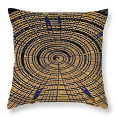 """Cardboard Abstract, #7 Throw Pillow (18"""" x 18"""") by Tom Janca.  Our throw pillows are made from 100% spun polyester poplin fabric and add a stylish statement to any room.  Pillows are available in sizes from 14"""" x 14"""" up to 26"""" x 26"""".  Each pillow is printed on both sides (same image) and includes a concealed zipper and removable insert (if selected) for easy cleaning."""