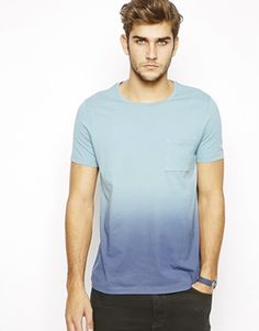 ASOS T-Shirt With Spray Dip Dye Effect
