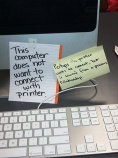 lol complicated computer printer relationship. Funny humor and more at www.frikkinawesome.com