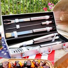 Personalized Grilling Tool Set - Best Gift for Him Bbq Tool Set, Stainless Steel Bbq, Best Gifts For Him, Fresh Flower Delivery, Grilling Gifts, Grill Master, Boyfriend Gifts, Anniversary Gifts, Tools