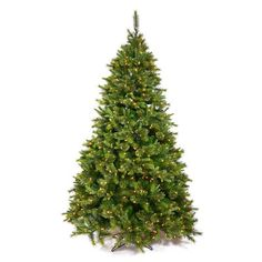 The Holiday Aisle 6.5' Cashmere Pine Artificial Christmas Tree 500 LED Multi Colored Dura-Lit Lights with Stand