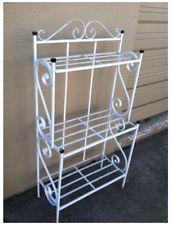 Large Corner Bakers Rack | bakers rack shelves iron made shelf stand dine kitchen lawn
