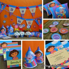 Dora birthday party printables