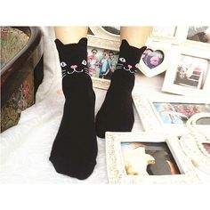 Black Kitten Socks available now!  9.99