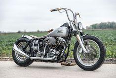 Beautiful Harley Davidson Shovel Head Bobber build by Kraftwerk Customs, Germany