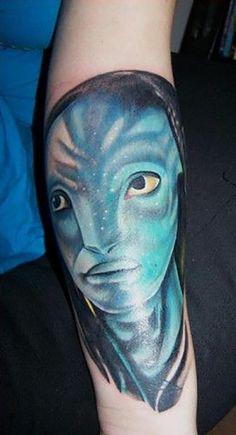 Neytiri Avatar Tattoo James Cameron, Avatar Tattoo, Tattoo Zeichnungen, Tattoos, Thriller, Watercolor Tattoo, Portrait, Gorgeous Tattoos, Tattoo Artists