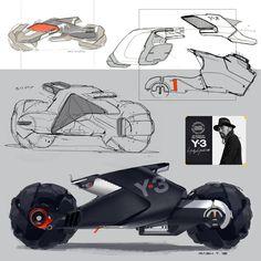 ArtStation - Concept motorcycles (WIP), Rashid Tagirov - Before After DIY Bike Sketch, Car Sketch, Futuristic Motorcycle, Futuristic Cars, Motorbike Design, Concept Motorcycles, Vintage Motorcycles, Car Design Sketch, Transportation Design