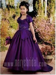 purple princess-flower girl