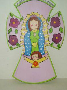 Cruz De La Virgencitas Plis Para Primera Comunion - $ 60.00