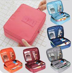 New 2015 Nylon Multifunction Make up Organizer bag Women Cosmetic bags Outdoor Travel Bag Handbag Bolsas Bags Travel, Travel Cosmetic Bags, Travel Toiletries, Toiletry Storage, Cosmetic Storage, Toiletry Bag, Bag Storage, Nylons, Make Up Organizer