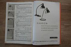 Bauhaus-Lampen. Kandem Leuchten- Liste Nr. 90, 1937. Original !! 4