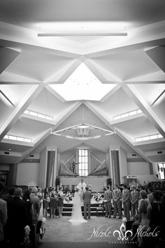 artistic wedding pictures at St Frances Cabrini church, Denver wedding photographer