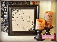 How to Make a Clock from an Old Picture Frame with the Silhouette CAMEO