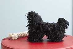 Hungarian Puli from Best in Show: 25 More Dogs to Knit by Sally Muir & Joanna Osborne, published by Pavilion.