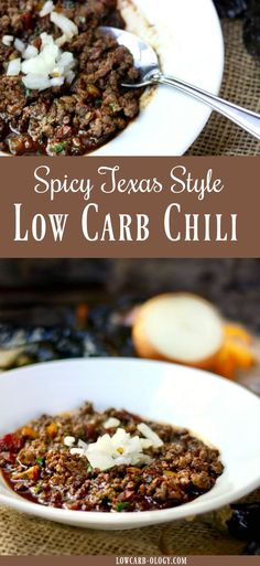 This low carb chili recipe is based on my favorite Texas chili. Meaty and rich with plenty of spice from two kinds of chile peppers and homemade chile powder. Just 3 net carbs! #lowcarb #Chili via @Marye at Restless Chipotle