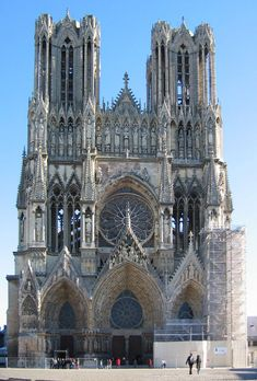 Cathédrale Notre Dame Reims, France Want to go back so bad. Cathedral Architecture, Church Architecture, Reims France, Paris France, France Europe, Tour Saint Jacques, Cathedral Church, Reims Cathedral, Ville France