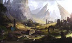 Journey by Ninjatic on DeviantArt Another nice piece from Ninjatic. Morning light in the valley of the ruins.