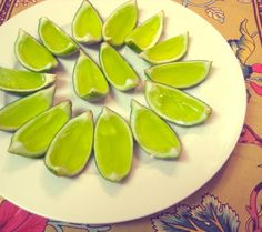 St. Patrick's Day Lime Jell-O Shots! Yep .... this weekend for sure.  How clever