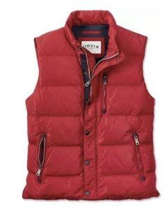 Orvis Men's Essex Down Puffer Vest Size Medium Red
