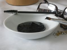 Make your own Homemade Mascara - have you ever read the ingredients in a tube of mascara?   | www.ancient-wisdoms.com