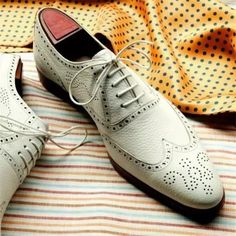 White Leather Wedding Custom Made Leather Oxford Shoes for Men Leather Dress Shoes, Leather Heels, Real Leather, White Leather, Leather Men, Mens Business Shoes, Oxford White, Formal Shoes, Formal Dress